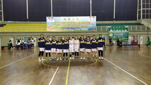 Tim basket putri Kota Malang. (Humas KONI Kota Malang)