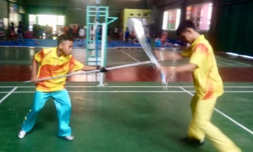 Salah satu atlet Kota Batu saat berlaga di Porprov Jatim di Kemantren Sport Center Paciran, Lamongan, Senin (8/7/2019). (Foto: istimewa)