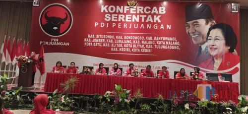 Konfercab serentak PDI Perjuangan di Kota Malang belum lama ini (Pipit Anggraeni/MalangTIMES).