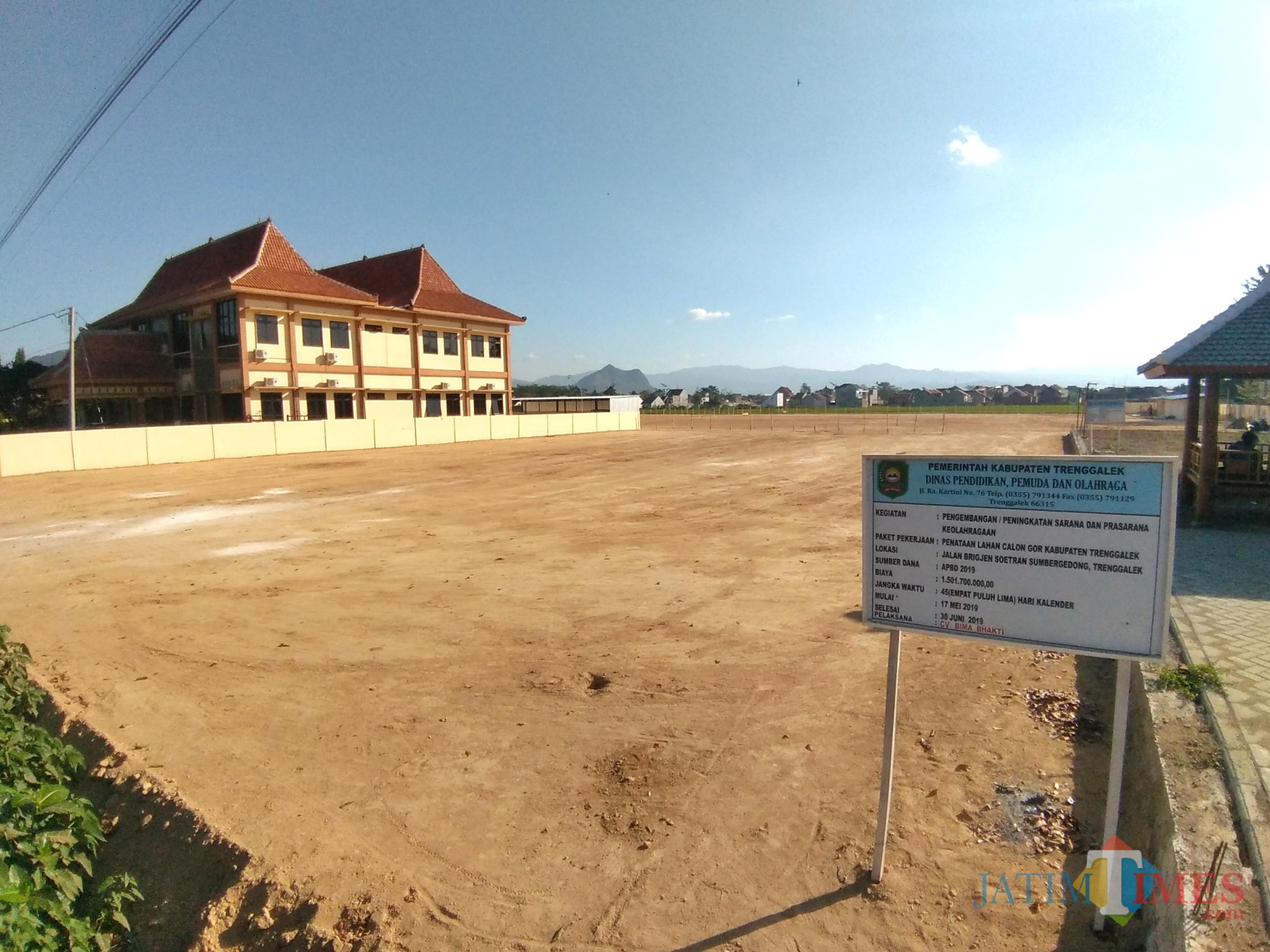 Lokasi bakal berdirinya Gedung Olah Raga (GOR) di Trenggalek