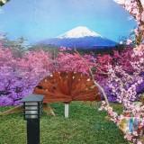 Salah satu spot bernuansa Gunung Fuji di Istana Sakura