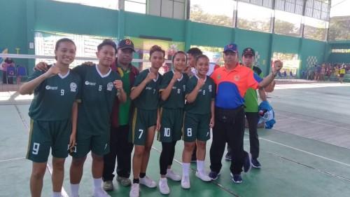 Para pemain sepak takraw putri Kota Malang (Humas KONI Kota Malang)