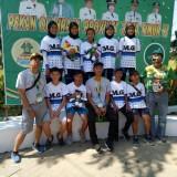 Atlet Perserosi saat berfoto bersama di podium +Humas KONI Kota Malang)