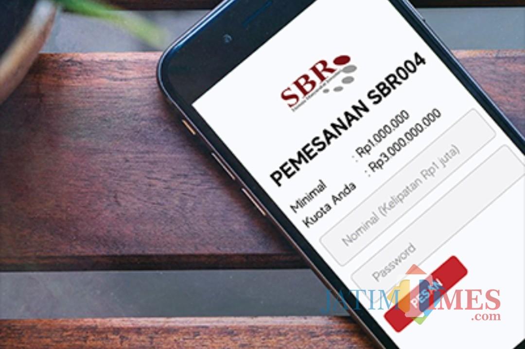 Ilustrasi pemesanan SBR secara online. (Foto: Kementerian Keuangan RI)
