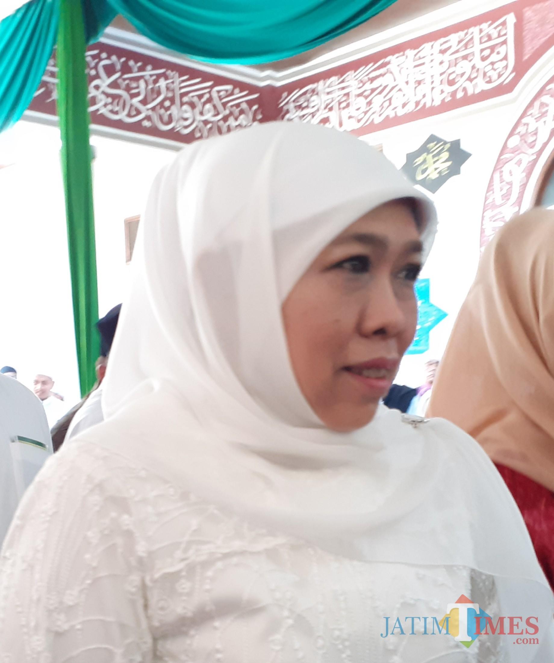 Gubernur Jawa Timur Khofifah Indar Parawansa (Arifina Cahyanti Firdausi/MalangTIMES)