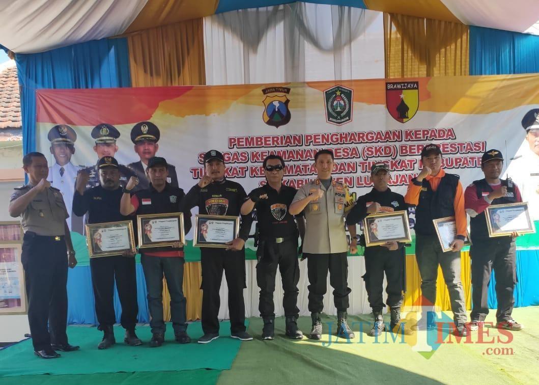 Kapolres Lumajang AKBP DR. Muhammad Arsal Sabhan dalam acara pemberian penghargaan kepada SKD terbaik (Foto : Moch. R. Abdul Fatah / Jatim TIMES)