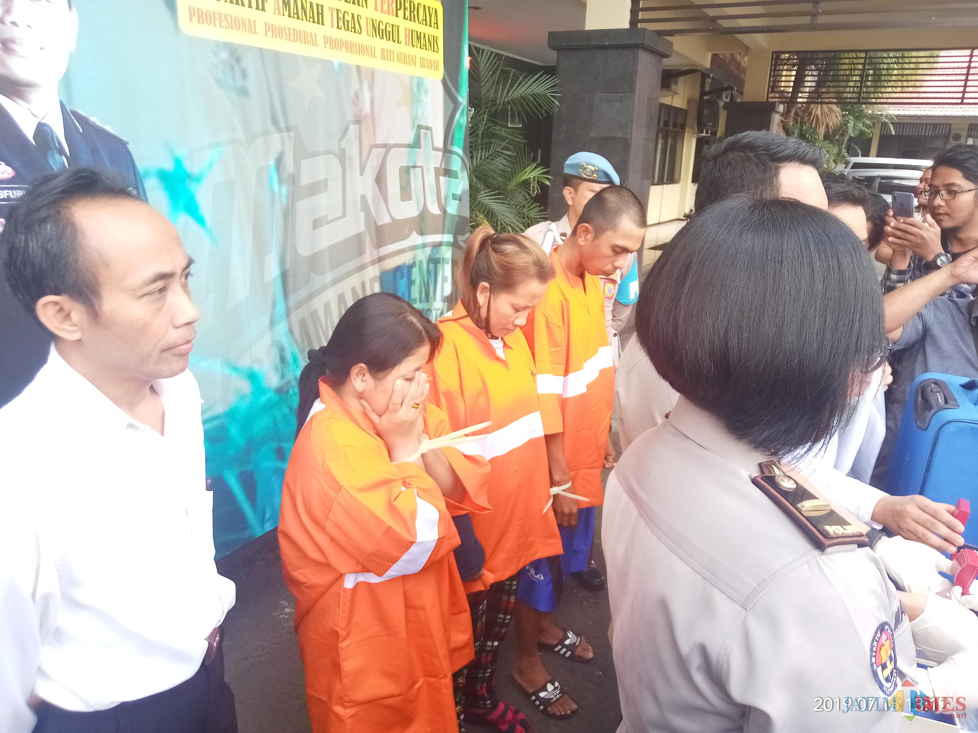 Para pelaku yang berhasil diamankan polisi (Anggara Sudiongko/MalangTIMES)