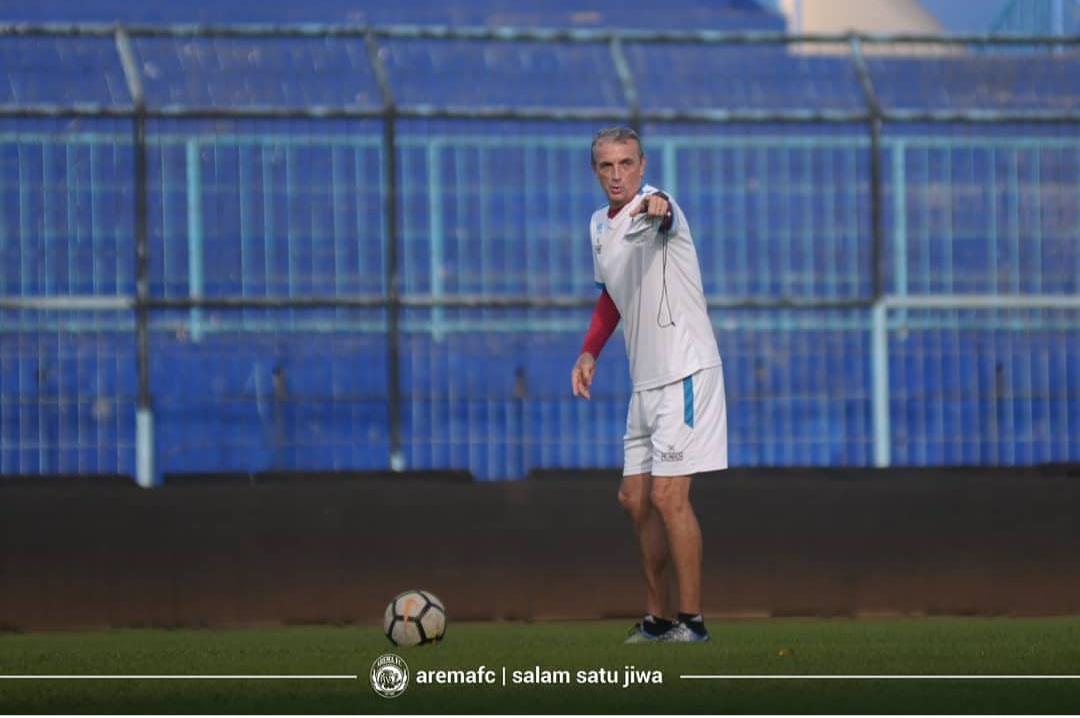 Pelatih Kepala Arema FC Milomir Seslija (official Arema FC)