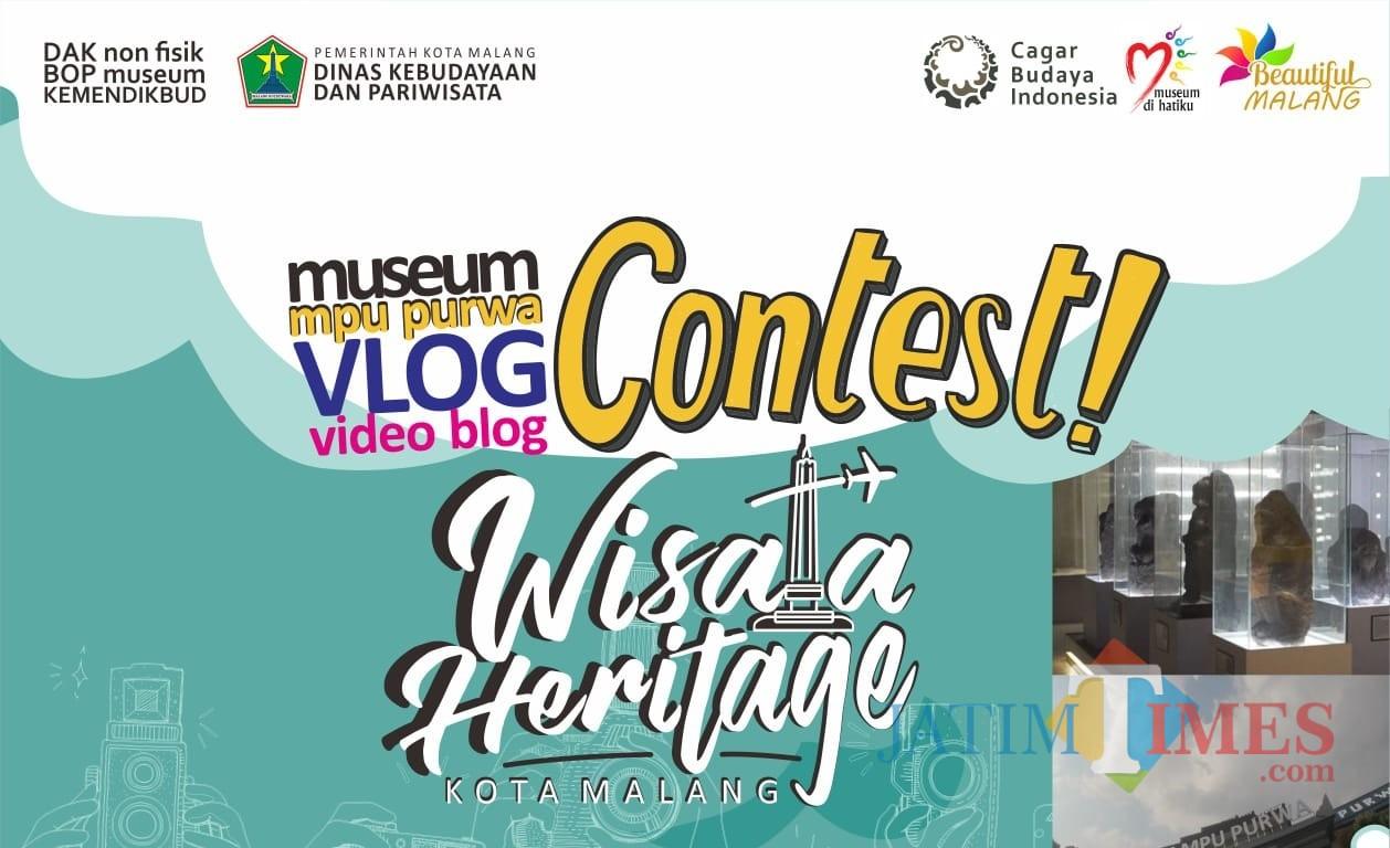 Poster lomba vlog yang digelar Dinas Kebudayaan dan Pariwisata (Disbudpar) Kota Malang. (Foto: Dokumen MalangTIMES)