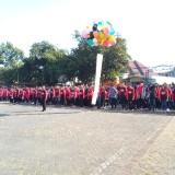 Ribuan mahasiswa Unikama yang melakukan Apel sebelum berangkat KKN (Anggara Sudiongko/MalangTIMES)