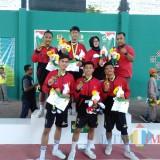 Tim Sepak Takraw, salah satu penyumbang emas bagi Kabupaten Blitar