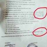 Postingan surat dari sekolah terkait pungutan dana SPP (Ist)