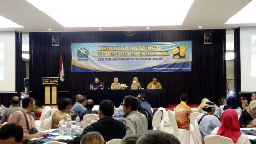 Suasana dalam monitoring IPAL komunal di Kota Malang. (DPUPR)