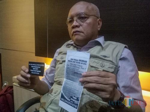 Ketua Tim Advokasi Hukum UB Prija Djatmika, sosok yang bakal dilibatkan menjadi saksi ahli kasus penggelapan (Foto : Dokumen MalangTIMES)