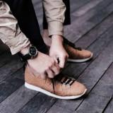 Sepatu Pepagan berbahan kulit kayu. (Foto: Istimewa)