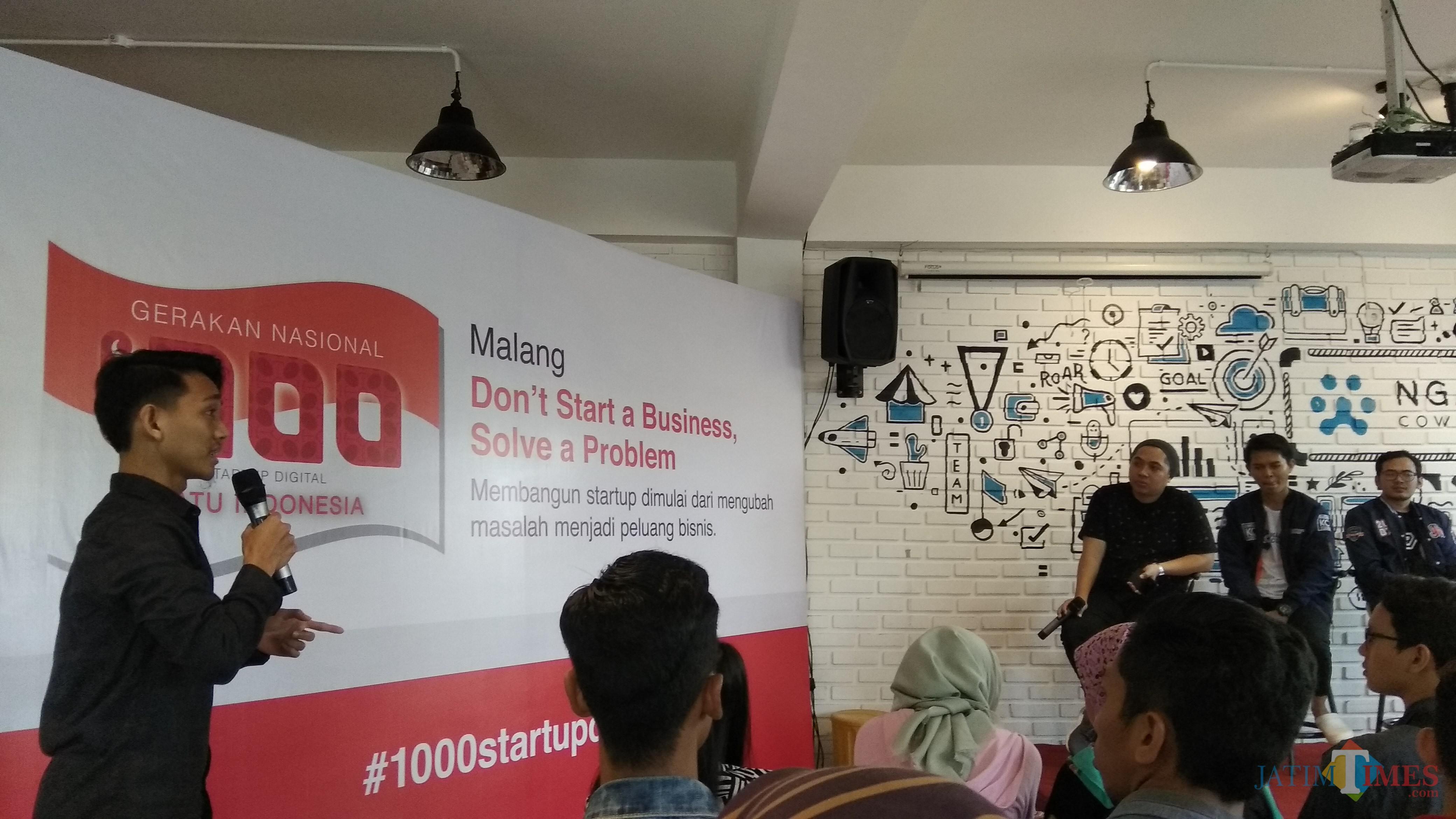 Roadshow Gerakan 1000 Startup Digital Malang di Ngalup Coworking Space. (Foto: Nurlayla Ratri/MalangTIMES)