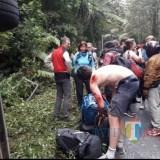 Kondisi mobil Isuzu Elf dan korban luka- luka WNA