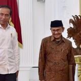 Mantan Presiden RI ke 3�Bacharuddin Jusuf�Habibie saat bersama Presiden RI Joko Widodo saat berada di Istana Merdeka. (Foto: istimewa)
