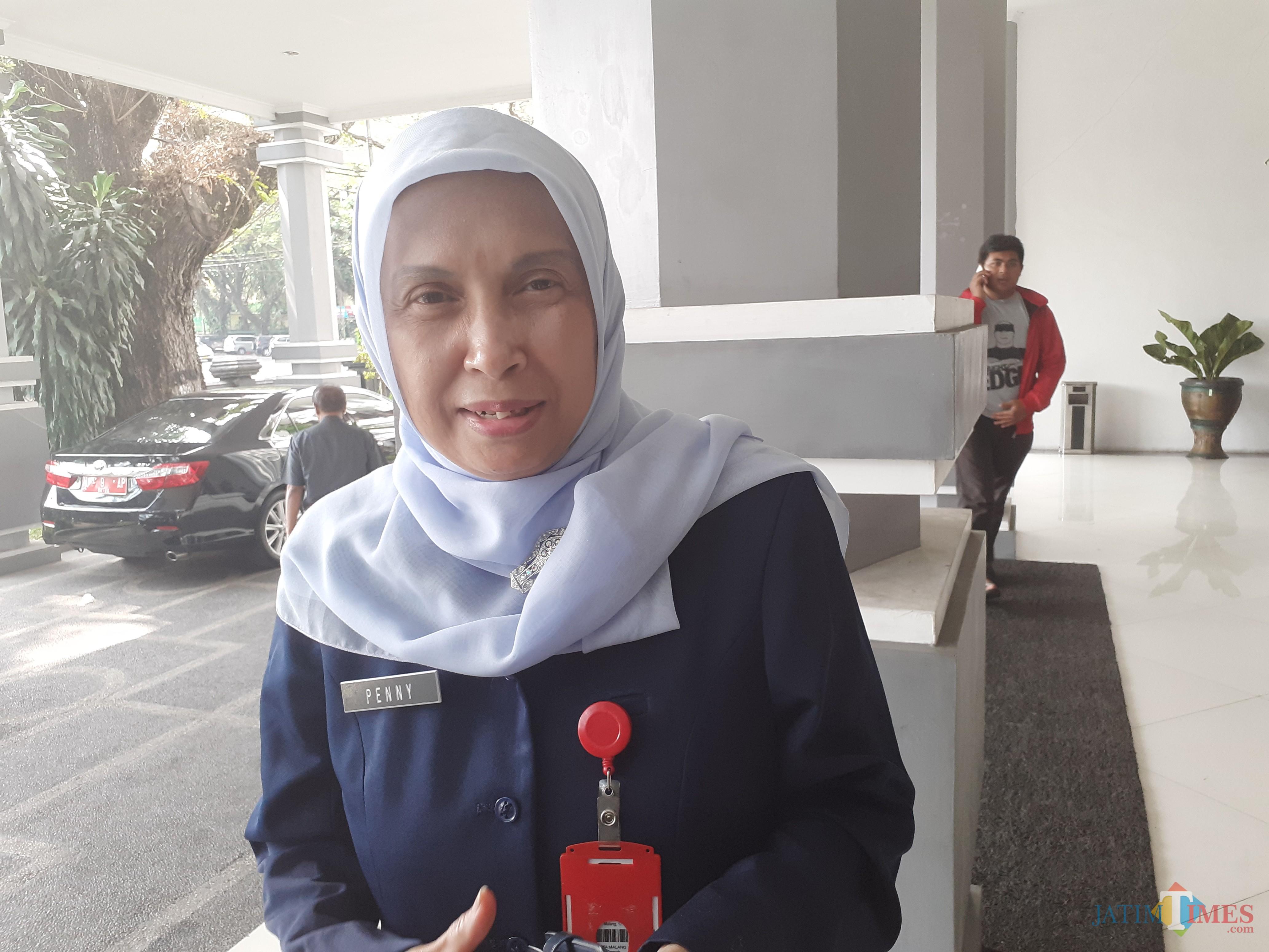 Plt Kepala Dinas Sosial Kota Malang Peni Indriani (Arifina Cahyanti Firdausi/MalangTIMES)