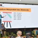 Penasehat KPK saat memaparkan pengaduan masyarakat Provinsi Jawa Timur dan Masyarakat Kabupaten Situbondo (Foto: Heru Hartanto/Situbondo TIMES)