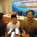 Sekjen Peradi Sugeng Teguh Santoso dan Ketua Aptisi Indonesia, Suko Wiyono (Anggara Sudiongko/MalangTIMES)