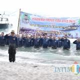 Suasana upacara pengukuhan Pengukuhan Brevet Scuba Diver TNI AL  (Foto Istimewa / Situbondo TIMES)