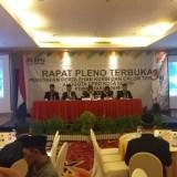 Rapat pleno terbuka KPU Kota Kediri untuk menetapkan calon anggota DPRD. (eko Arif s /JatimTimes)