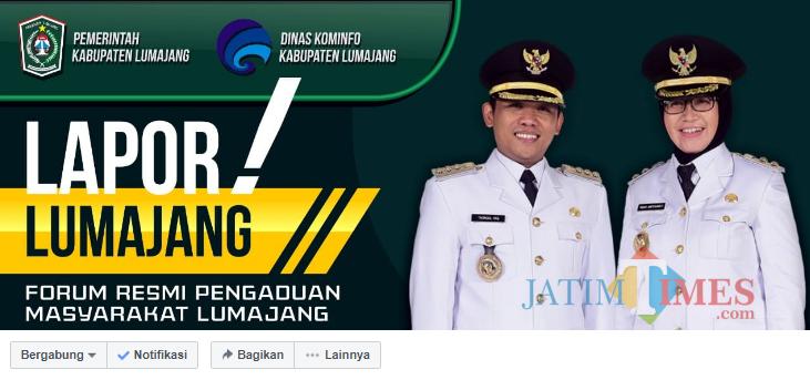 Akun FB Lapor Lumajang yang dimiliki Pemkab Lumajang (Foto : Moch. R. Abdul Fatah / Jatim TIMES)