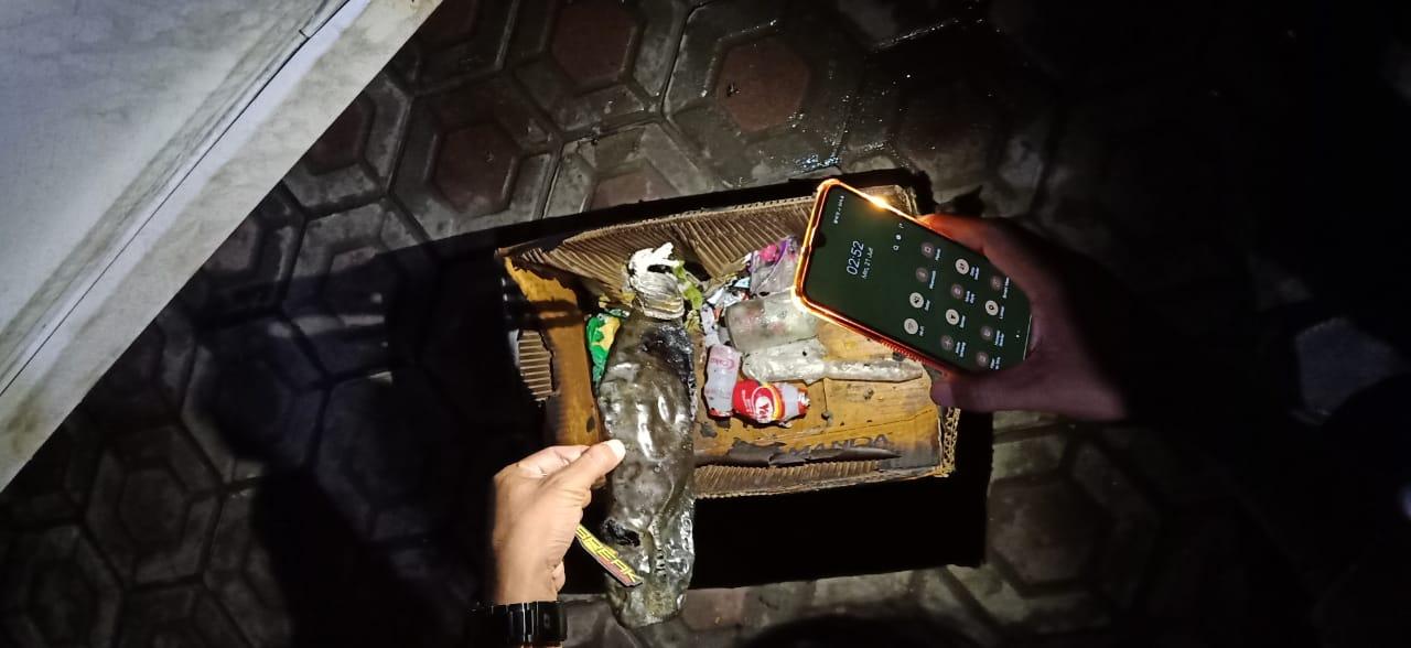 Bom molotov saat ditemukan di sekitar lokasi kejadian. (Istimewa)