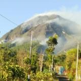 Kebakaran lahan hutan di area Gunung Panderman, Kota Batu, terus menjalar, Minggu (21/7/2019).