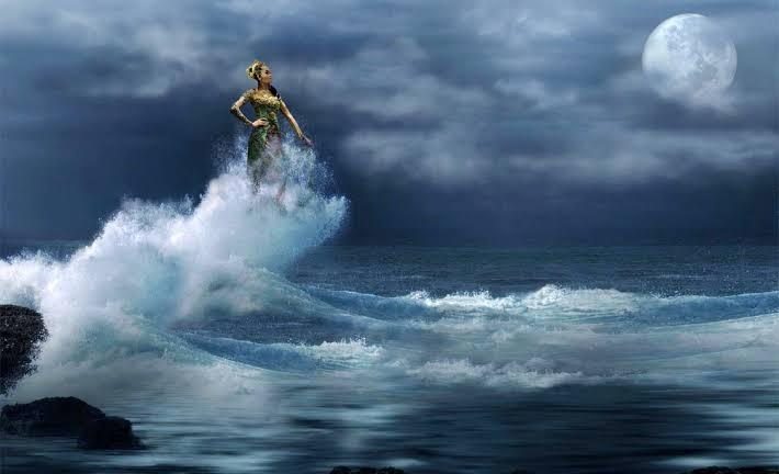 Ilustrasi terkait mitos Kerajaan Mataram Islam dengan kejadian tsunami 400 tahun lalu. (Ist)