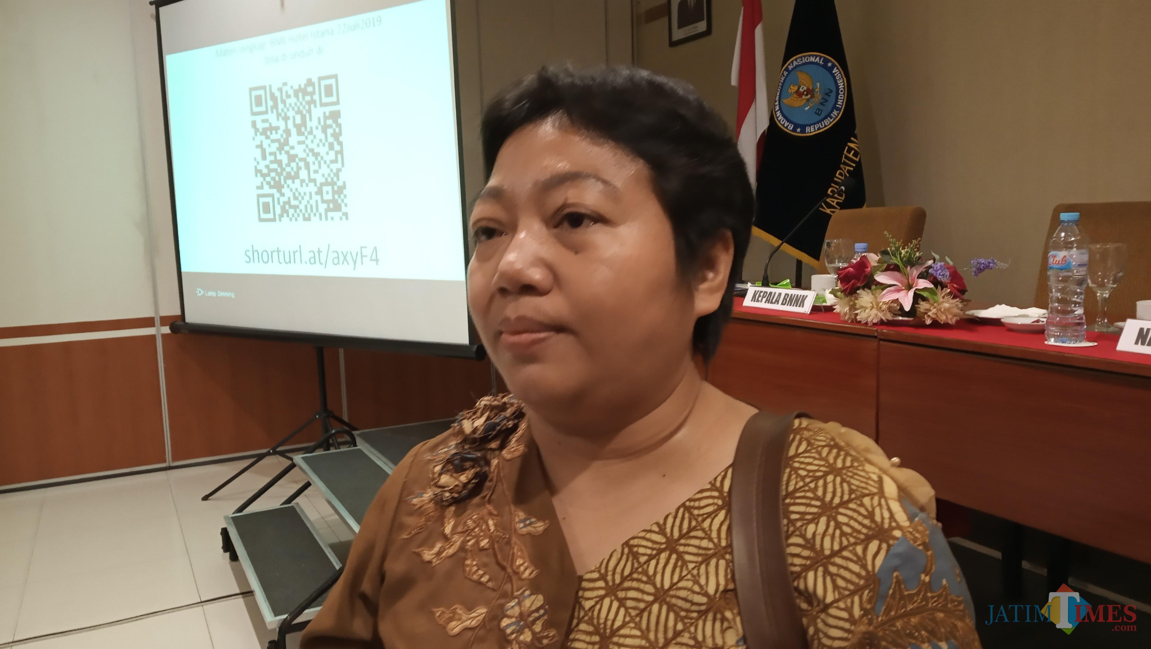 Sekretaris KPA,  If ada Nurohmah (foto : Joko Pramono/Jatim Times)