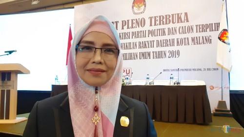 Ketua Komisi Pemilihan Umum (KPU) Kota Malang, Aminah Asminingtyas (Pipit Anggraeni/MalangTIMES).