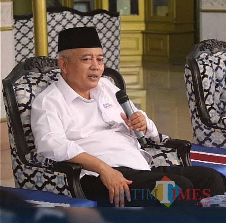 Plt Bupati Malang Sanusi berjanji memperjuangkan alokasi anggaran untuk ponpes di Kabupaten Malang. (Nana)
