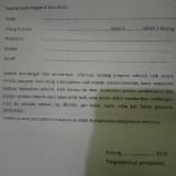 Formulir yang diduga sebagai modus pungli di SMAN 2 Kota Malang. (Foto: istimewa)