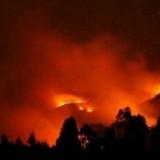 Kondisi kebakaran di di area Gunung Panderman.