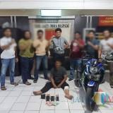 Tokhani saat diamankan di Satreskrim Polres Tulungagung / Foto : Dokpol / Tulungagung TIMES