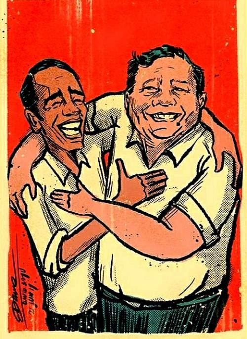 Ilustrasi Jokowi-Prabowo (@daviddj)
