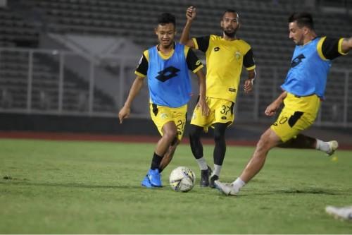 Pemain Bhayangkara FC saat menjalani latihan (Bhayangkara FC official)