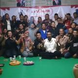 APD Nusantara, pemuda Jiwut dan Camat Ngelgok Aan Ernawanto sinergi bangun kemajuan potensi daerah Kec Nglegok.(Foto : Malik Naharul/BlitarTIMES)
