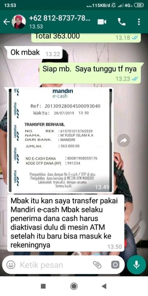 Modus Penipuan Baru Pelaku Tunjukkan Bukti Transfer Bank Yang
