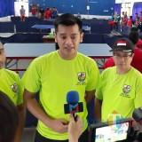 Ketua KNPI Kota Kediri Reza Darmawan saat memberikan keterangan kepada awak media. (eko Arif s /JatimTimes)