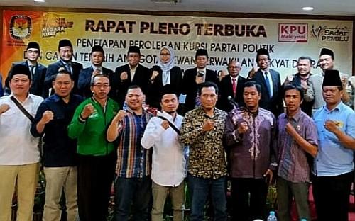 Penetapan 50 nama dewan terpilih Kabupaten Malang 2019-2024. (KPU kab malang)