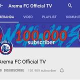 Masih di Bawah Persebaya, Akun Resmi YouTube Arema FC Tembus 100 Ribu Lebih