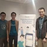 Para founder Fahamify, Muhammad Iksan, Rousyan Fikri, dan Edria Albert saat launching aplikasi.
