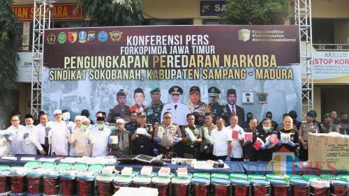 Press Release sabu jaringan Sokobanah-Madura