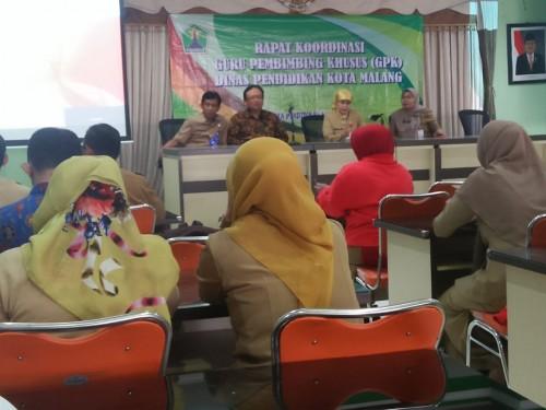 Rakor Guru Pembimbing Khusus (GPK) Dinas Pendidikan Kota Malang. (Foto: Humas)