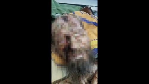 Tangkapan layar sosok pria yang disebut mendapat siksa kubur. (Foto: Dokumen MalangTIMES)