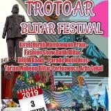 Sambut Puncak Hari Jadi Blitar ke 695, Pemkab Blitar Adakan 'Trotoar Blitar Festival'