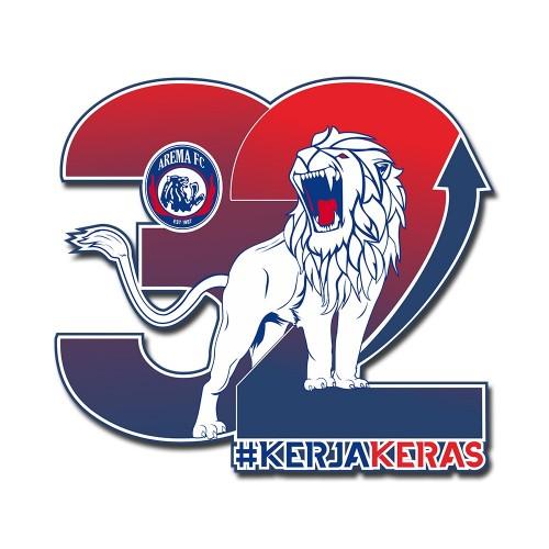 Logo dan slogan Arema FC pada hari jadinya pada 11 Agustus 2019 mendatang (official Arema FC)